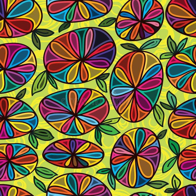Kwiatu kamienny bezszwowy wzór ilustracji