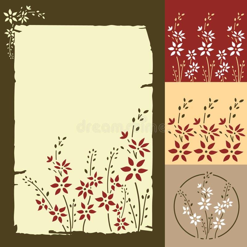 kwiatu karciany powitanie royalty ilustracja