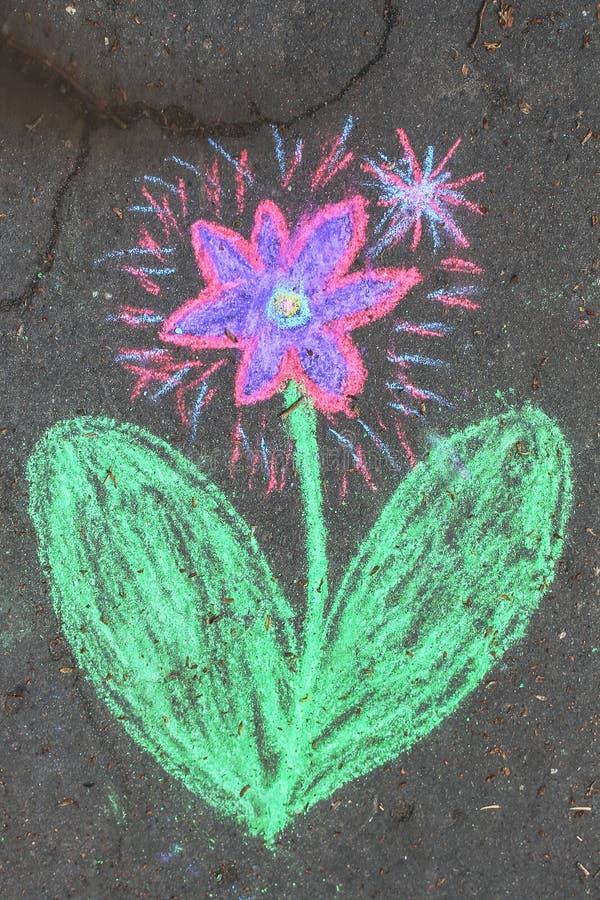 Kwiatu kawałek kreda fotografia royalty free