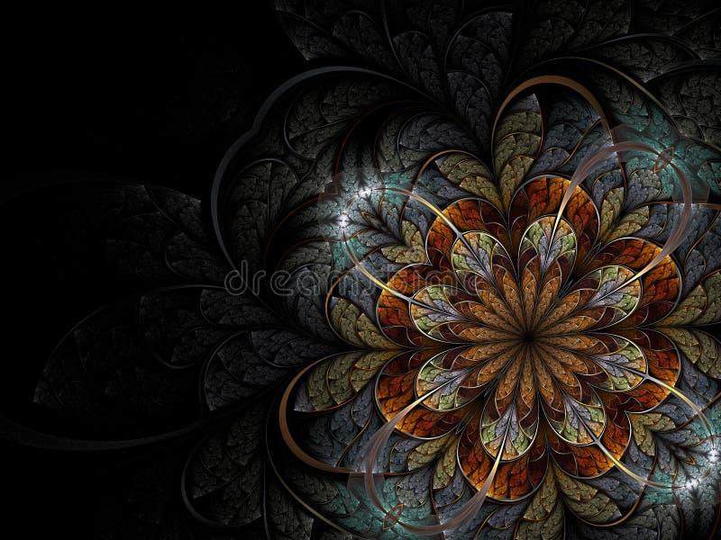 kwiatu kolorowy fractal ilustracji