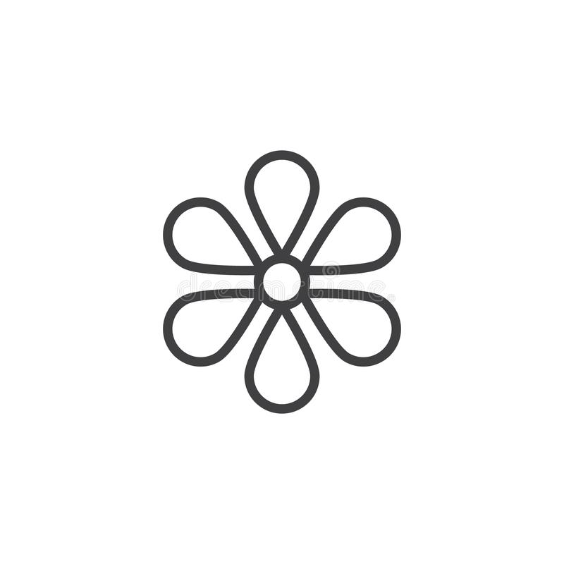 Kwiatu konturu ikona ilustracja wektor