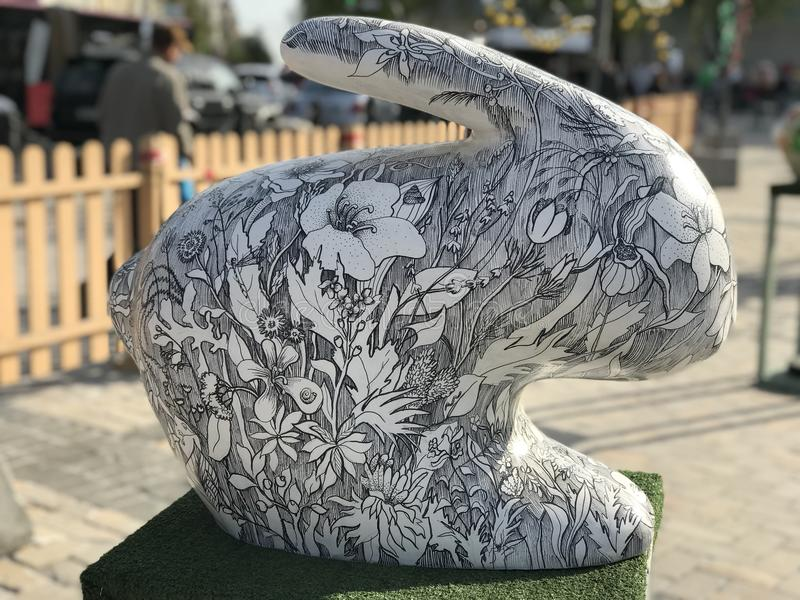 Kwiatu królik fotografia stock