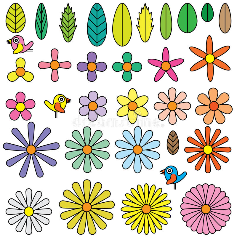 Kwiatu kształta element royalty ilustracja