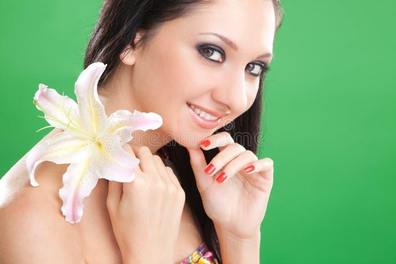 kwiatu lelui kobiety potomstwa obraz royalty free