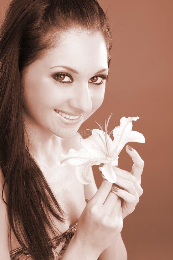 kwiatu lelui kobiety potomstwa obraz stock