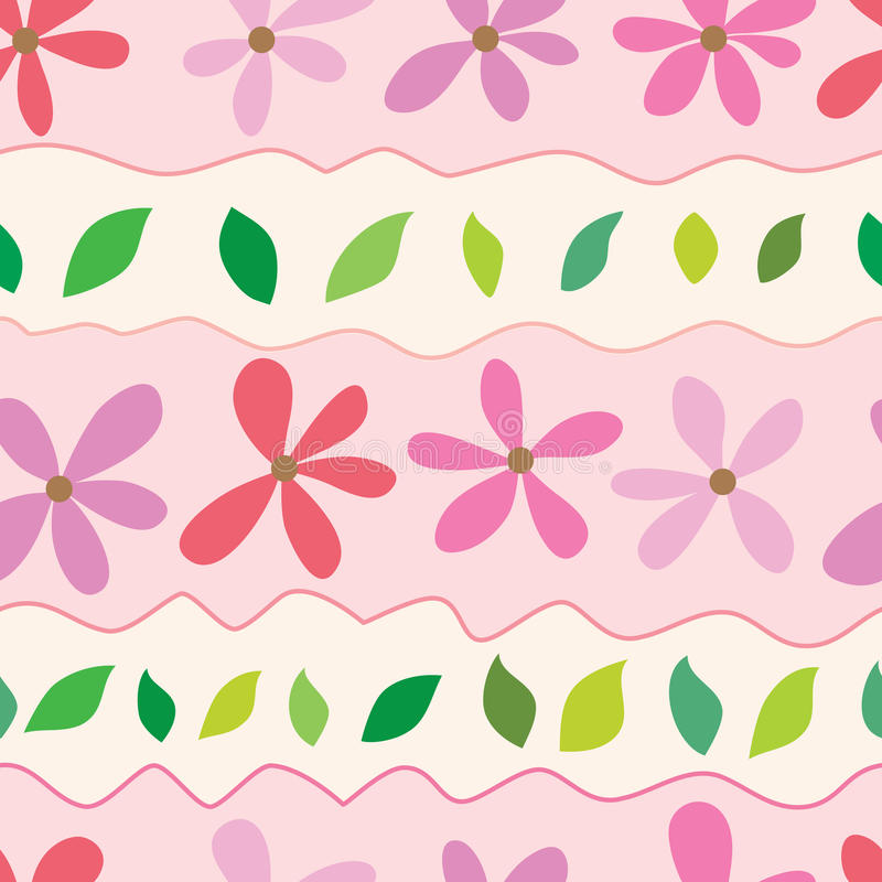 Kwiatu liścia horyzontalni pastelowi kolory ilustracja wektor