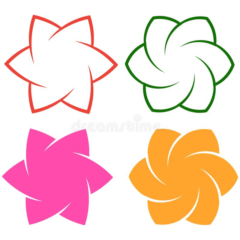 Kwiatu loga element na bielu ilustracji