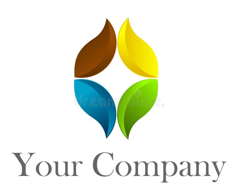 kwiatu logo royalty ilustracja