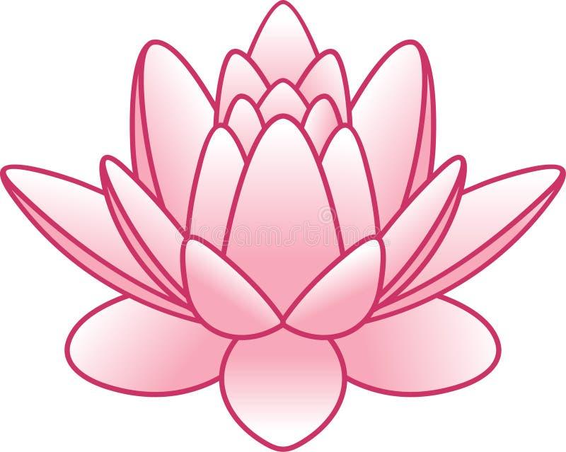 kwiatu lotosu wektor ilustracja wektor