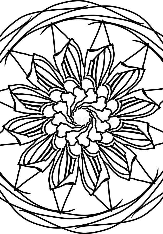 Kwiatu mandala zdjęcie stock