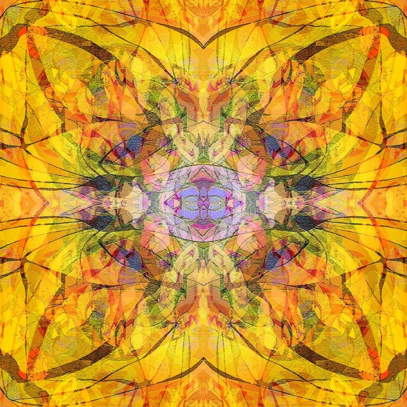 Kwiatu mandala JASKRAWY koloru barłóg LINIE W brązie ? zdjęcie stock