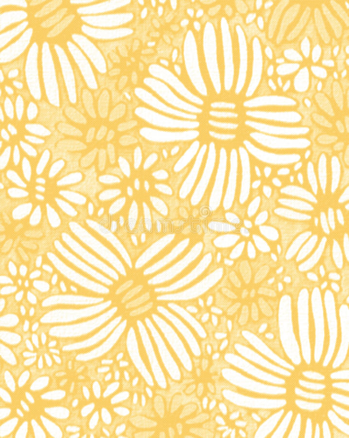 Kwiatu okwitnięcia nagietka żółtej akwareli bezszwowa tapeta ilustracja wektor