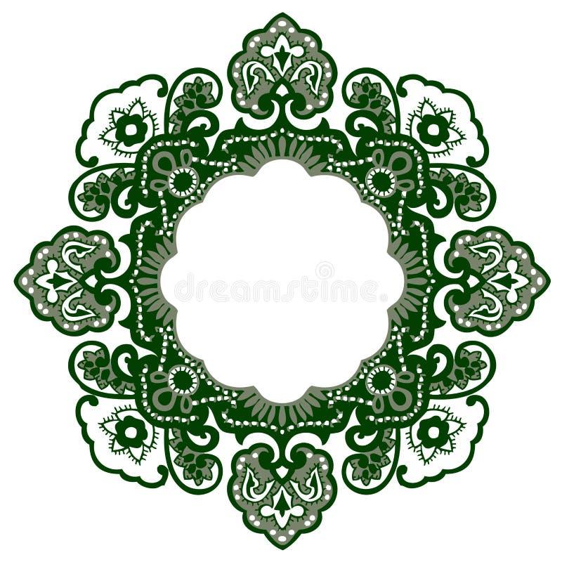 kwiatu Orient wzór ilustracja wektor