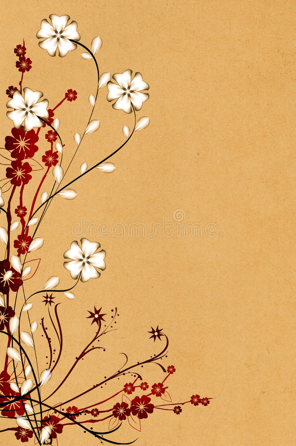 kwiatu ornament obrazy stock