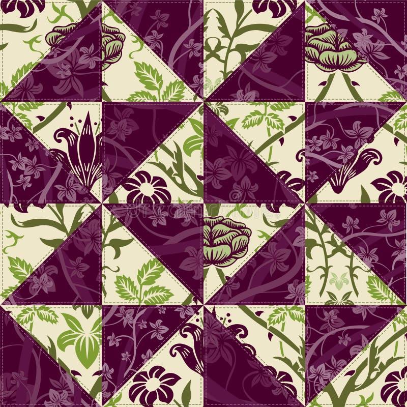 kwiatu patchwork ilustracja wektor