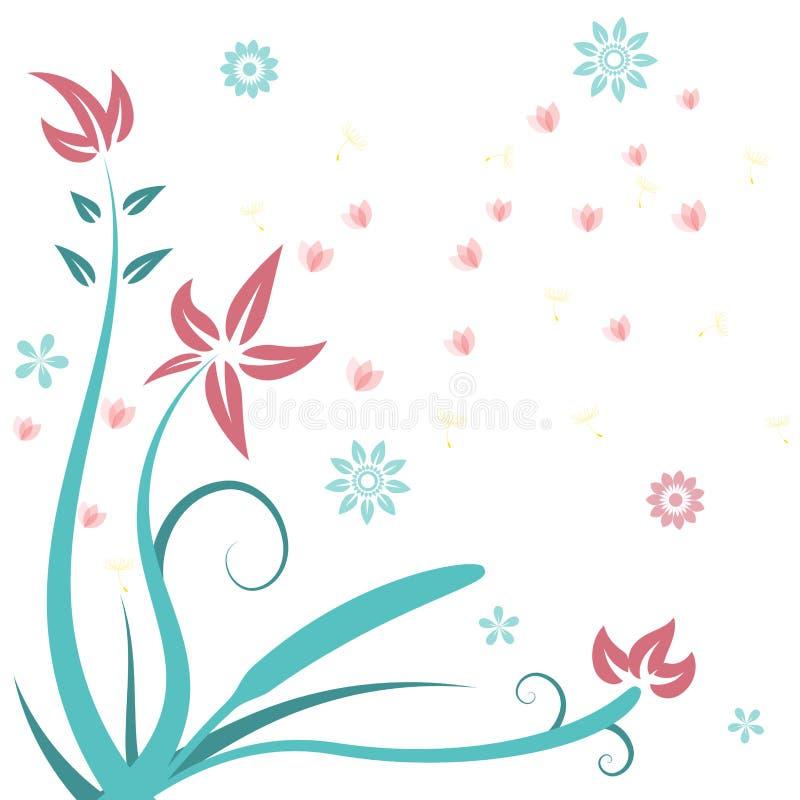 kwiatu projekta kaligraficzni elementy royalty ilustracja