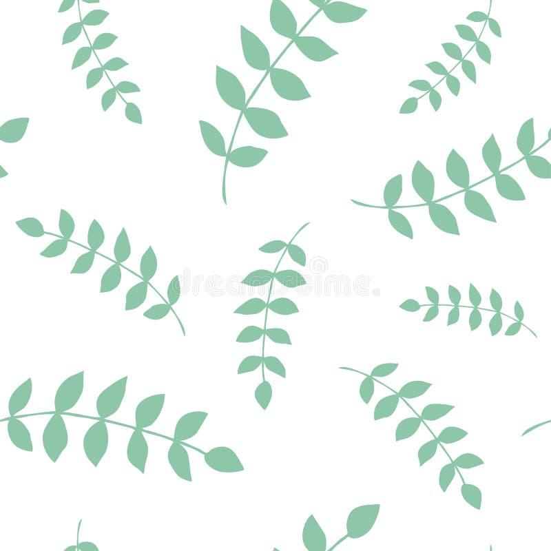 Kwiatu prosty minimalistyczny bezszwowy wzór ilustracja wektor
