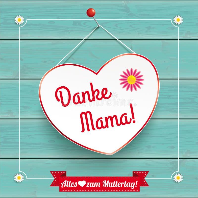 Kwiatu rocznika Kierowej ramy Danke Drewniany Mama ilustracji