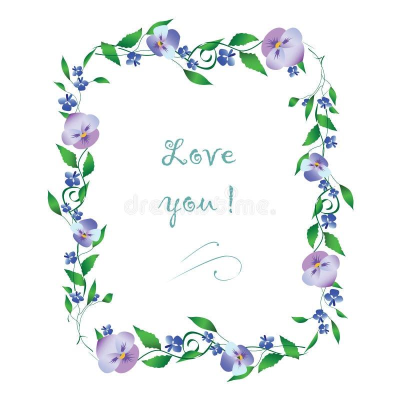 kwiatu romantyczny ramowy obraz stock