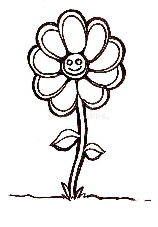 kwiatu smiley ilustracja wektor