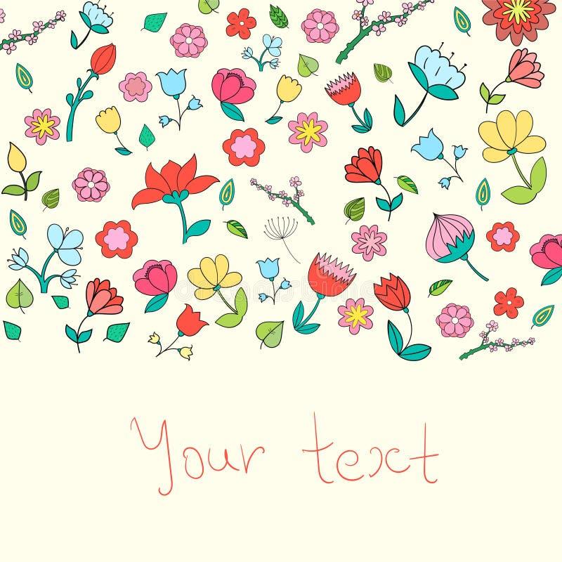 Kwiatu teksta placeholder koloru wektoru ilustracja royalty ilustracja