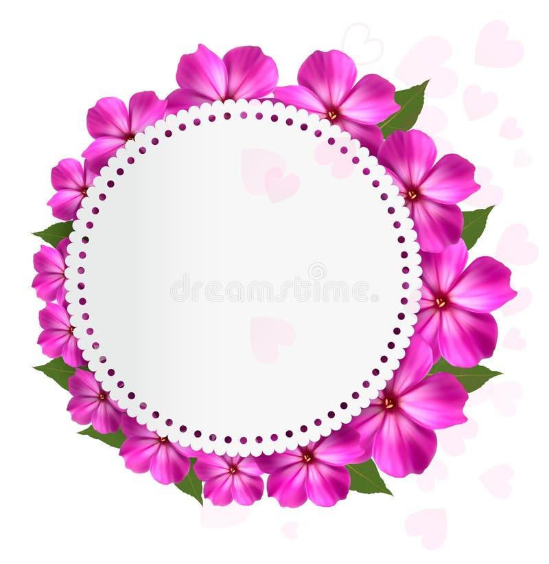Kwiatu wakacje tło royalty ilustracja