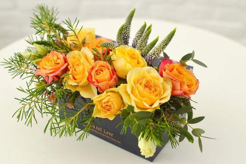 Kwiatu wystrój wnętrze fotografia royalty free