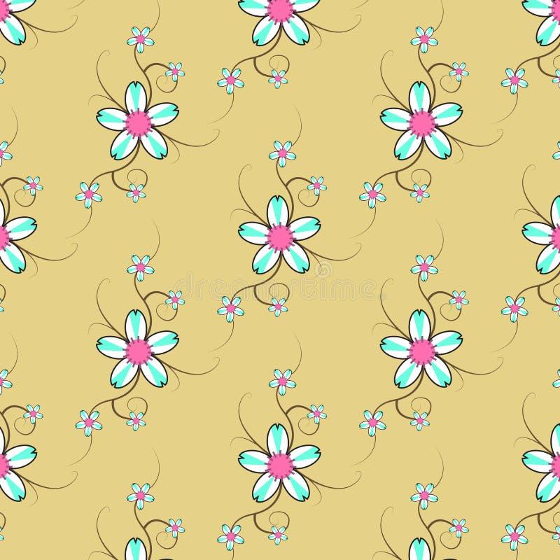 2 kwiatu wzór obraz stock