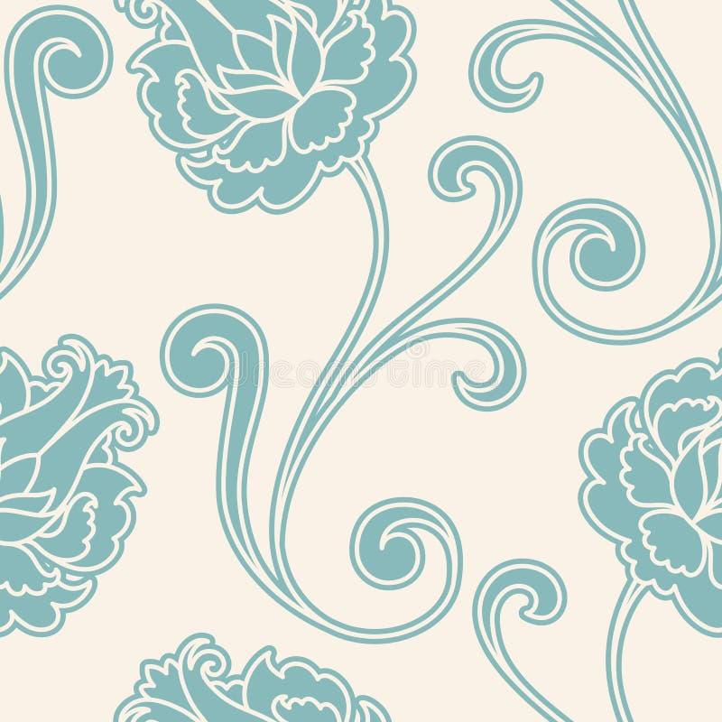 kwiatu wzoru retro bezszwowy royalty ilustracja