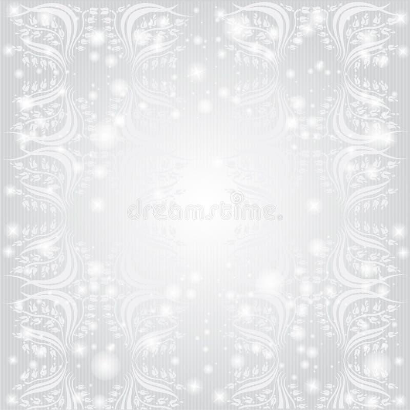 Kwiatu wzoru zimy luksusu tło ilustracji