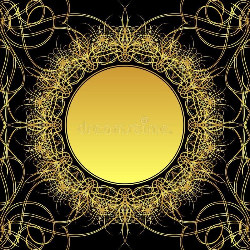 kwiatu złoto ilustracja wektor