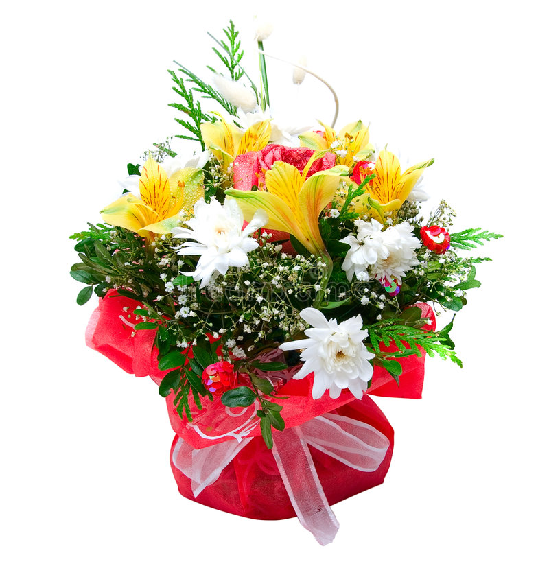 Kwiaty ślubna wiązka obraz royalty free