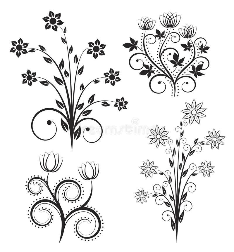 Download Kwiaty ilustracja wektor. Obraz złożonej z krzywy, twirl - 22618123