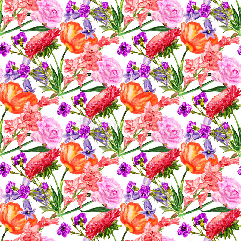 kwiaty bezszwowego tło ilustracji