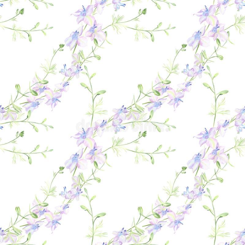 Kwiaty - dekoracyjny skład akwarela bezszwowy wzoru Używa drukowanych materiały, znaki, rzeczy, strony internetowe, mapy, plakaty ilustracji