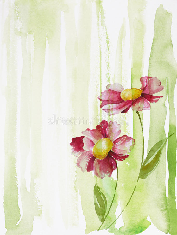 kwiaty dwa ilustracja wektor