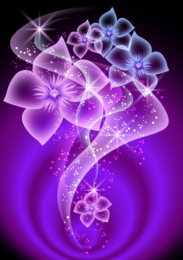 kwiaty dymią przejrzystego ilustracja wektor
