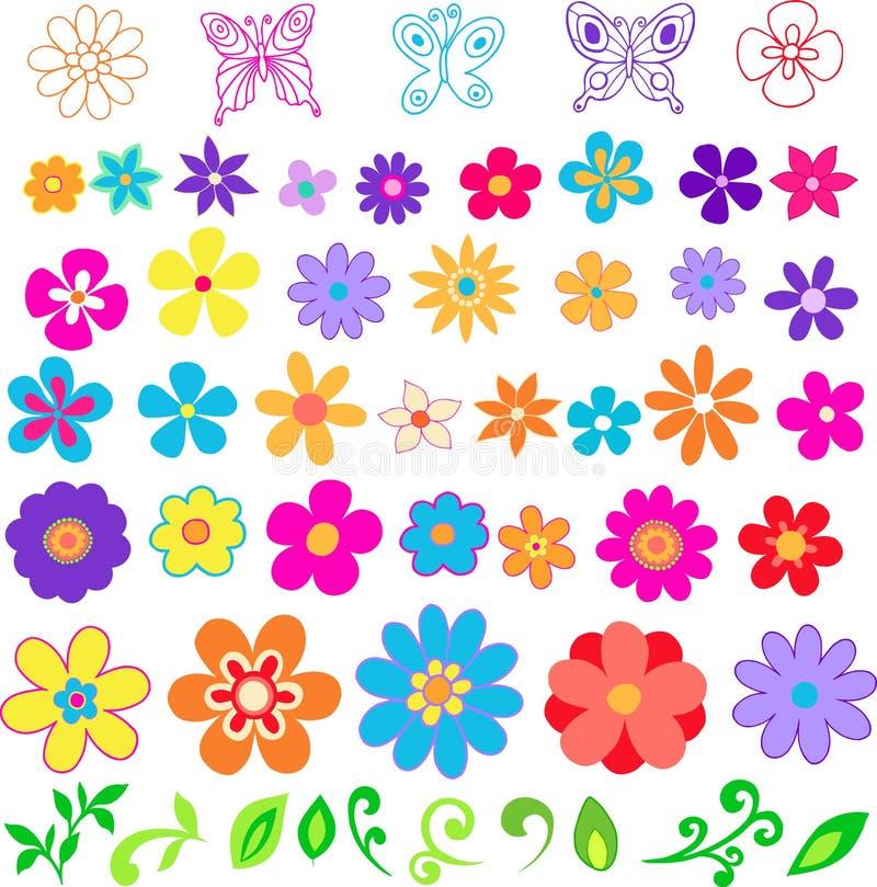 kwiaty ilustracyjnego wektora ilustracja wektor