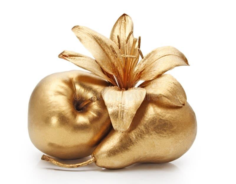 kwiaty jabłczana złota pear zdjęcie stock
