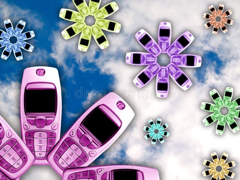kwiaty komórek telefon royalty ilustracja