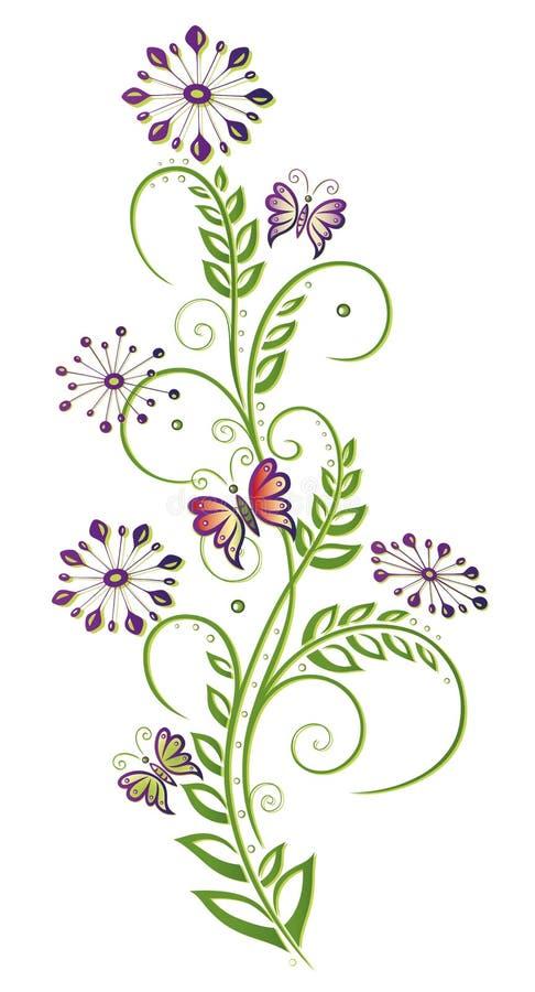 Kwiaty, kwiecisty element ilustracji