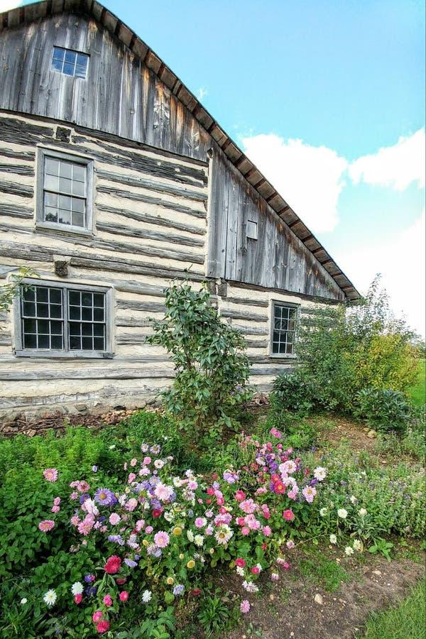 Kwiaty Kwitnie Staromodnym bela domem obrazy stock