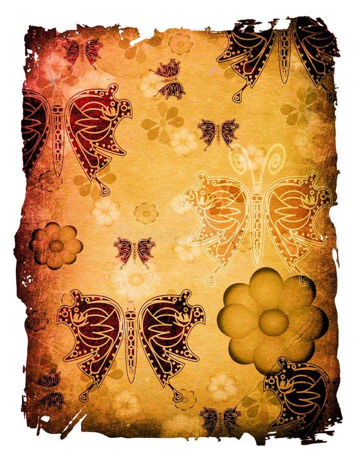 kwiaty motyla ilustracji