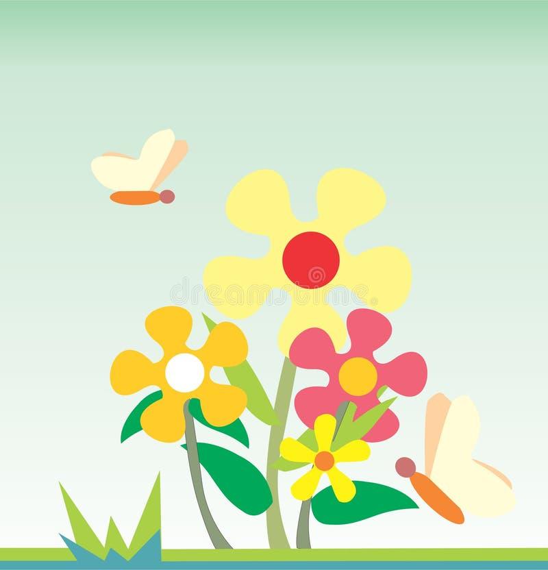 kwiaty motyliego ilustracja ilustracja wektor
