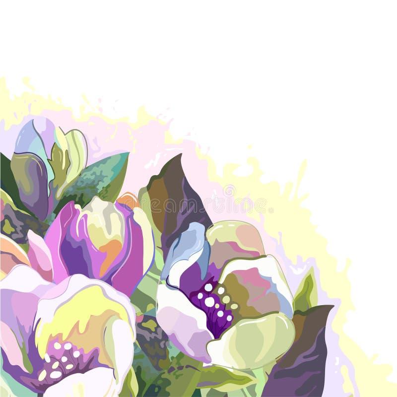 Kwiaty na białym tle ilustracja wektor
