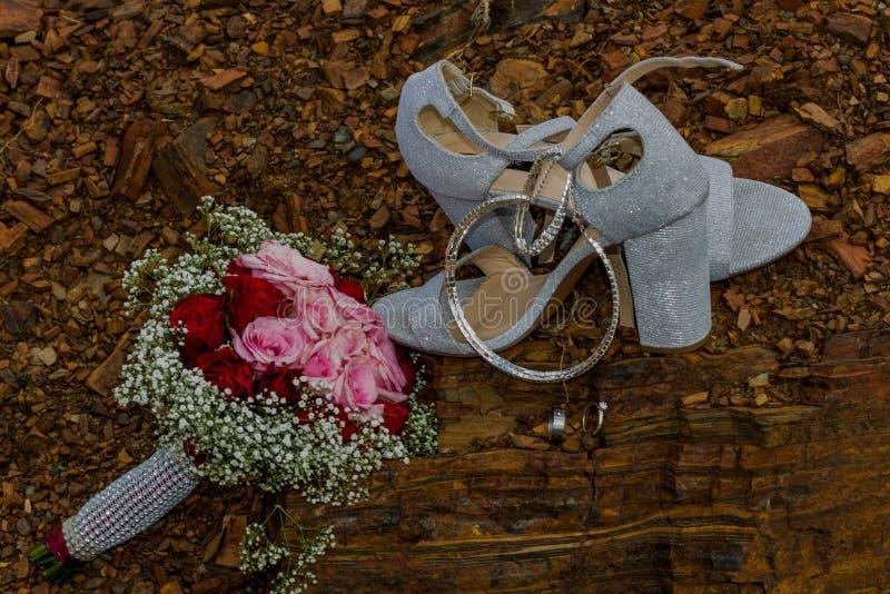 Kwiaty na skale fotografia royalty free