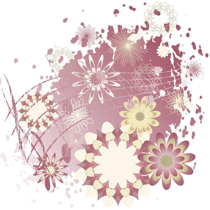 kwiaty notatki tło royalty ilustracja