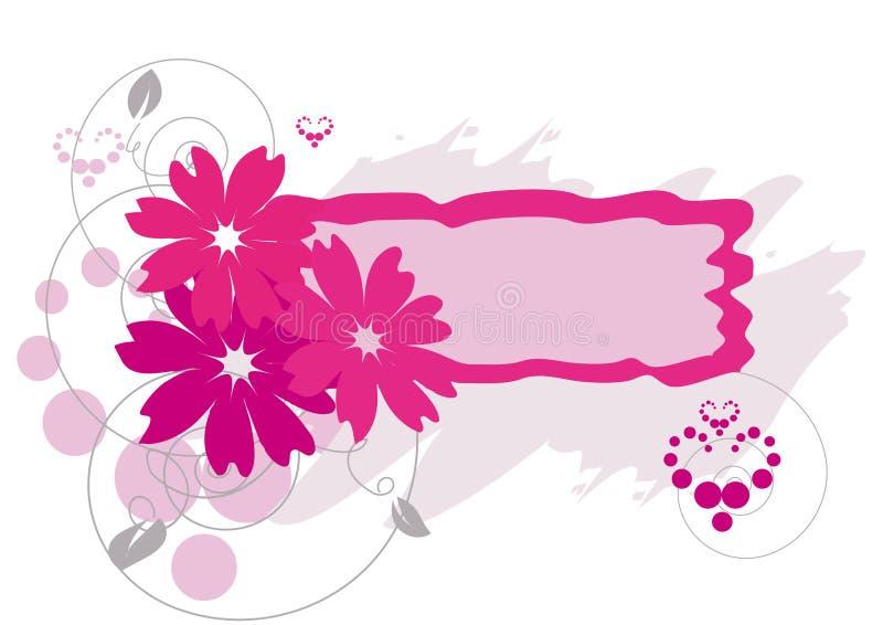 kwiaty obramiają grunge ilustracja wektor