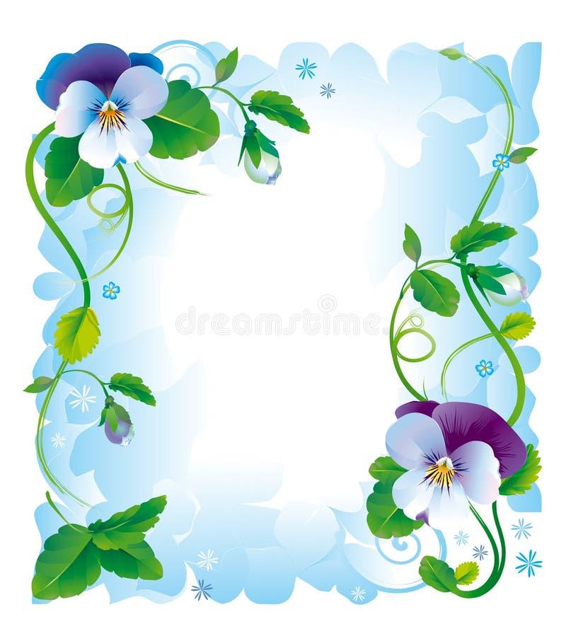 kwiaty obramiają pansy ilustracja wektor