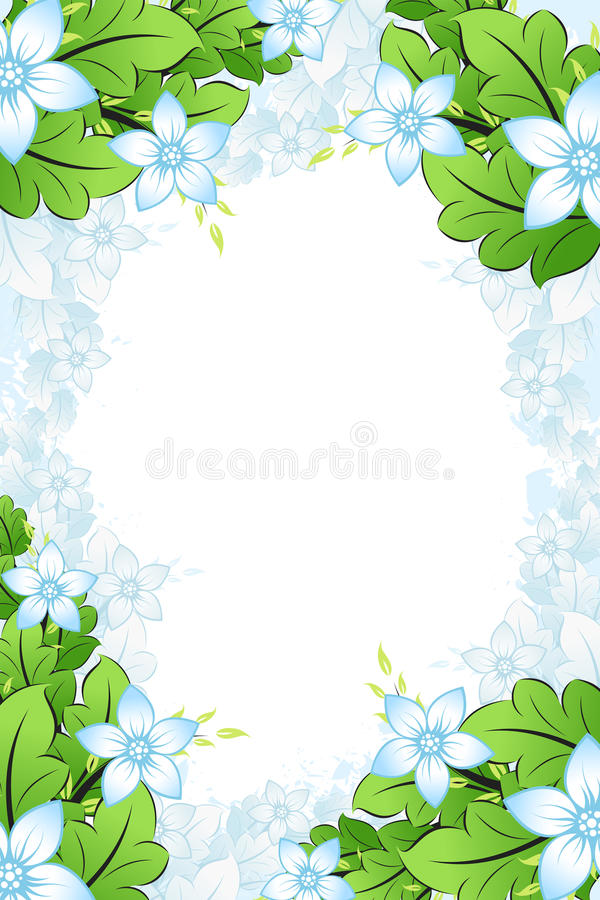 kwiaty obramiają wiosnę royalty ilustracja
